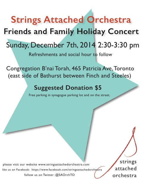 SAO Holiday Concert 2014 poster