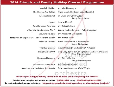 2014-12-07 - Programme