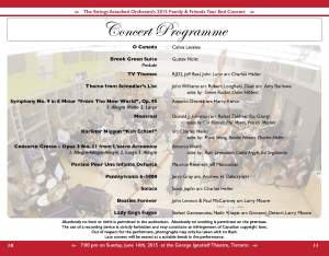 2015 SAO year end concert programme
