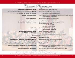 2016 SAO Year End Concert Programme