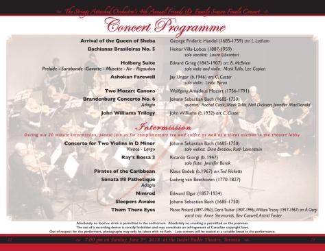 2018 YEC programme